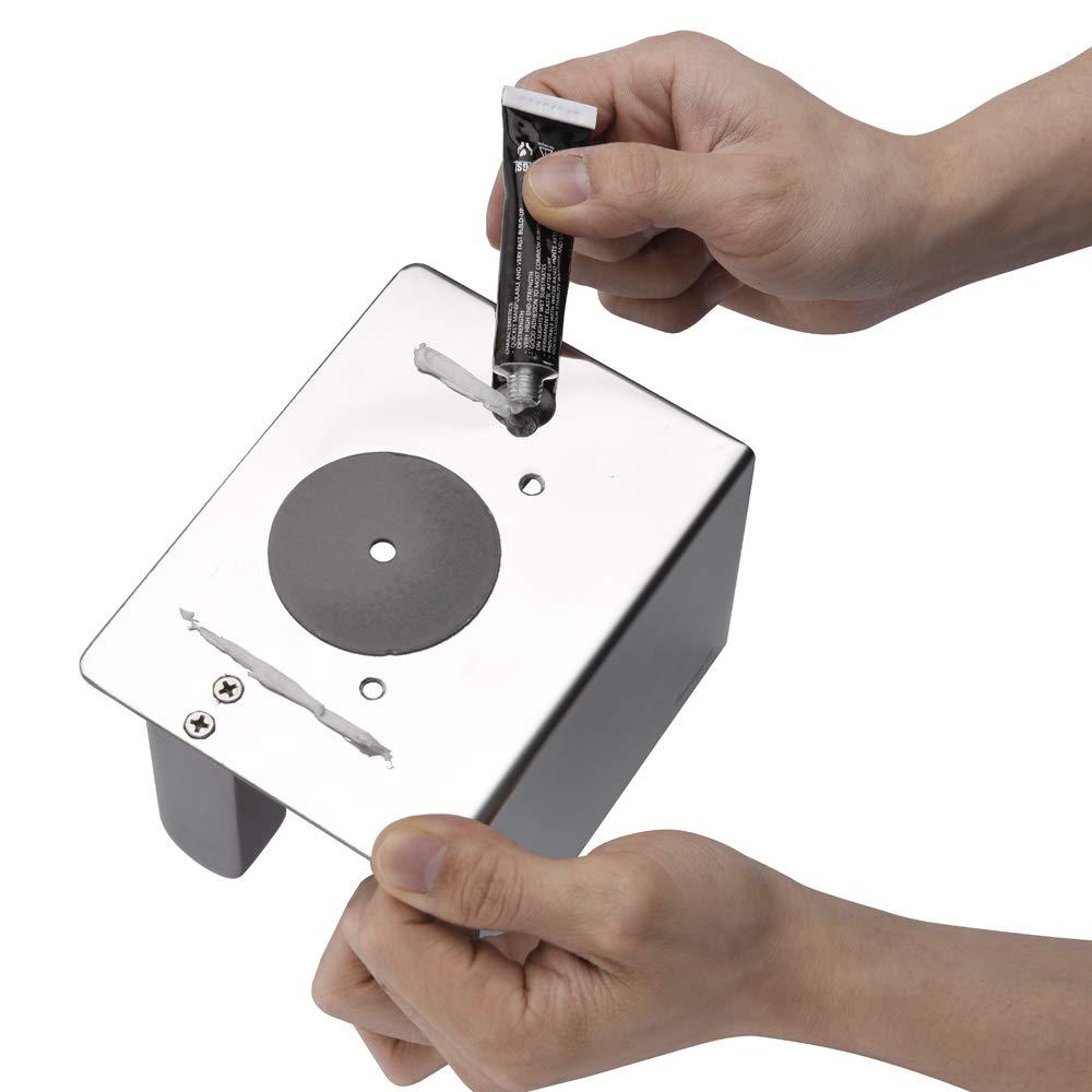 Ibergrif M34050 Plata Porta Rollos de Papel Higienico con el Tel/éfono M/óvil Estante de Almacenamiento Talla /única Acero Inoxidable Portarrollos Adhesivo Sin Tapa