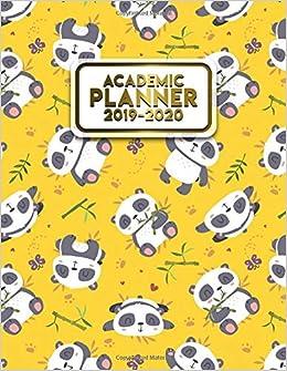 Amazon.com: Academic Planner 2019-2020: Pretty Yellow Panda ...