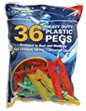 Spic and Span Heavy Duty Plastic Pegs, Pack of 36