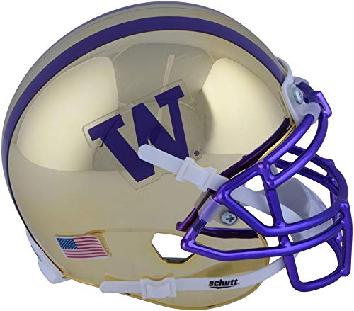 - Sports Memorabilia Washington Huskies Schutt Gold Mini Football Helmet - College Mini Helmets