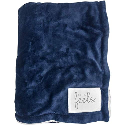 Cheap All the Feels Premium Reversible Blanket Full/Queen 88x92 Mood Indigo Blanket Super Soft Cozy Blanket Black Friday & Cyber Monday 2019