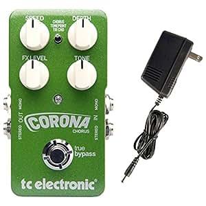tc electronic corona chorus stomp box guitar pedal w power supply musical instruments. Black Bedroom Furniture Sets. Home Design Ideas