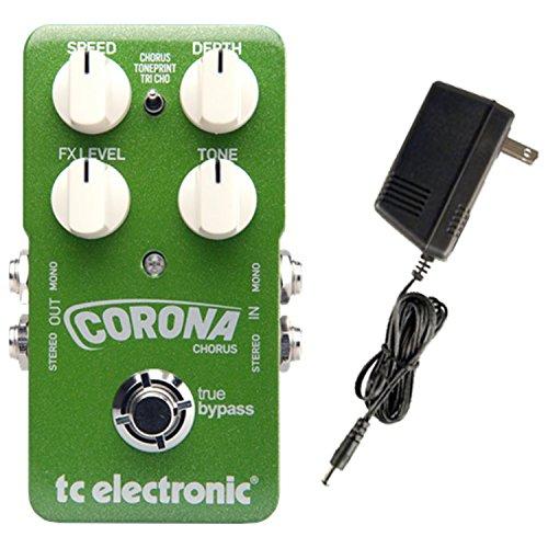 TC Electronic Corona Chorus Stomp Box Guitar Pedal w/ Power Supply