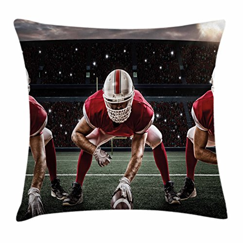 Boy's Room Throw Pillow Cushion Cover by Lunarable, Sports T