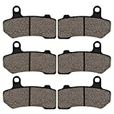 Cyleto Front and Rear Brake Pads for HARLEY DAVIDSON Touring FLHTC Electra Glide Classic 2008-2012 / FLHTCU Ultra Classic Electra Glide 2008-2017