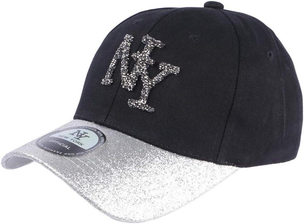 Hip Hop Honour Casquette Baseball Femme Strass Rouge Baseball NY Noire Etoyl Femme