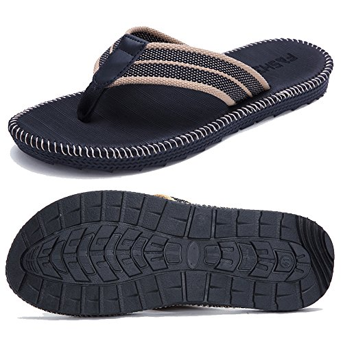 JOKIHA Men's Classical Comfortable Flip-Flops Slippers Couples Beach Sandals by JOKIHA