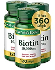 Biotin by Nature's Bounty, Vitamin Supplement, Supports Metabolism for Energy and Healthy Hair, Skin, and Nails,
