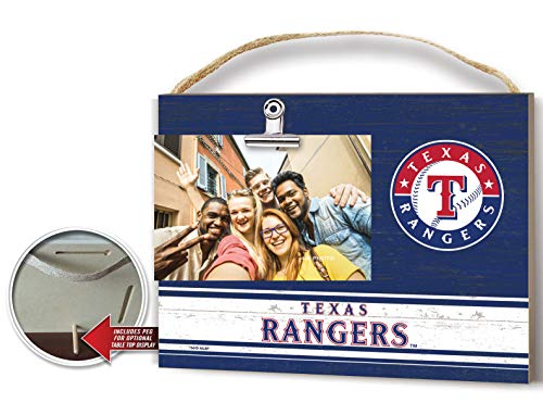 (KH Sports Fan Clip It Colored Logo Photo Frame Texas Rangers)