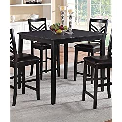Poundex PDEX-F2396 Dining Tables, Black