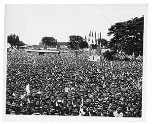 Photo: Crowd,President Sukarno,1901-70,Makassar,Indonesia,1962