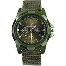 Fashion Army Racing Force Military Sport Mens Fabric Band Watch,Outsta Gift Watches Round Case Wristwatches