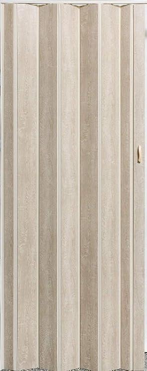 Faltt/ür Schiebet/ür Sonoma Eiche hell farben Fenster H/öhe 202 cm Einbaubreite bis 80 cm Doppelwandprofil Neu