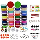 Amor 36 Colors Clay Set Ultra-light Safety DIY Air Dry Clay Modeling Magic with Tools for Children (0.65oz-0.7oz Per Color)