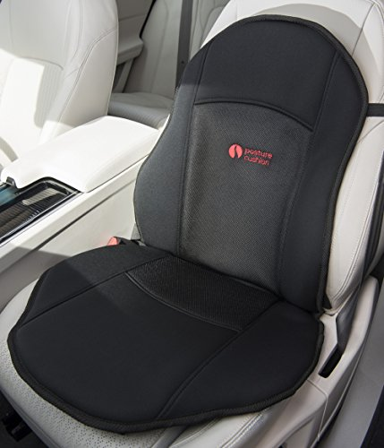 Posture Cushion - Seat Softener Comfort Cushion With Soft Foam Insert. Great For Modern Harder Car Seats. Prevents The Pain And Stiffness In Your Legs And Back When Sitting In The Car Home And Office. Available With Black Breathable Cover And Anti Slip Base. Great Quality And Value For Money.