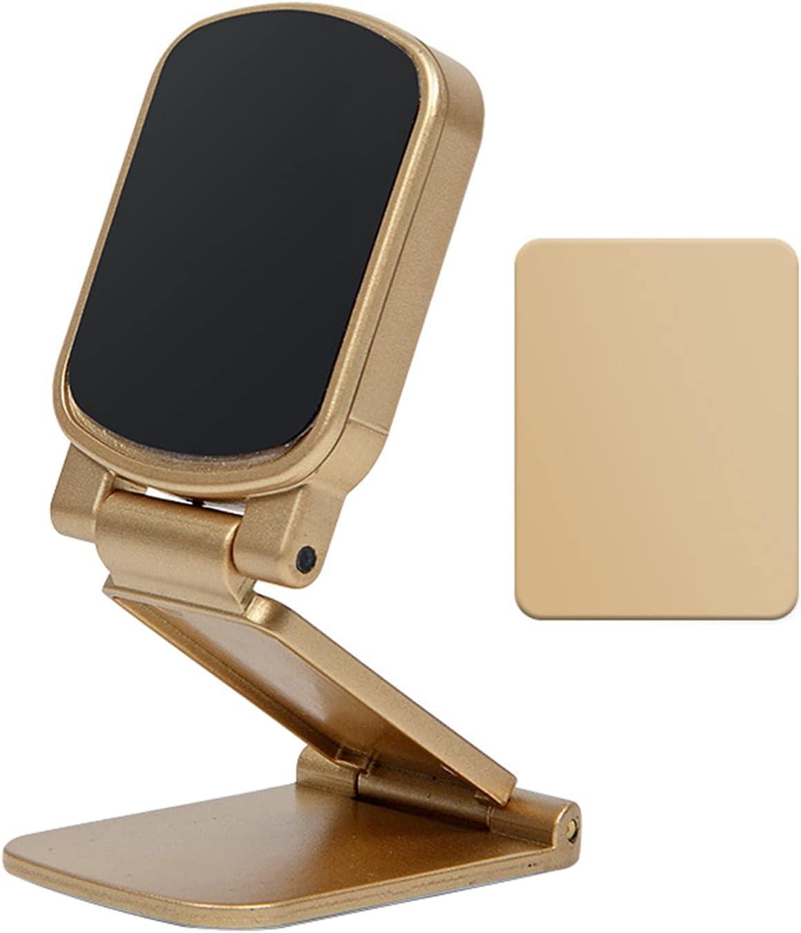 Sonoaud Soporte de teléfono elegante del soporte del teléfono del tablero de instrumentos del coche del soporte magnético compacto magnético para el oro del vehículo