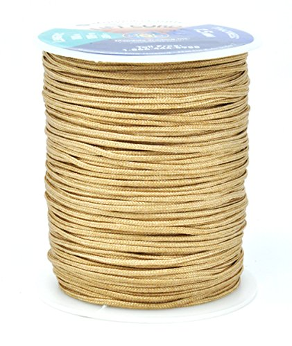 Ceiling Braided Light (Mandala Crafts Blinds String, Lift Cord Replacement from Braided Nylon for RVs, Windows, Shades, and Rollers (1.5mm, Tan))