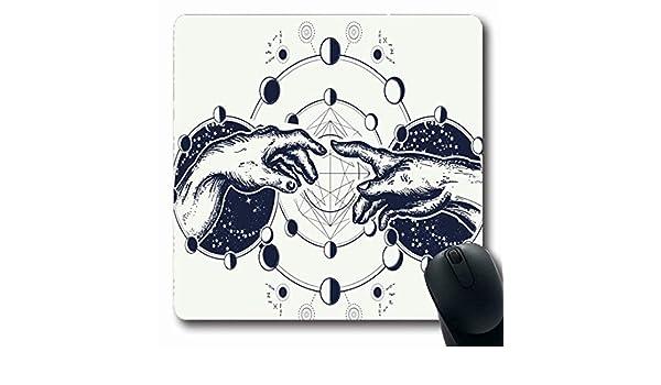 Luancrop Alfombrillas para computadoras Ojo Universo Manos Tatuaje ...