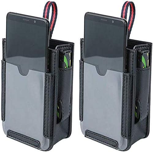 Wilk Multifunktionale Autotasche, 4-in-1-Multifunktions-Autotasche Autoentlüftungstasche für Mobiltelefone, für Smartphones, Brillen, Stifte, Feuerzeuge (2Pacs) (Schwarz)