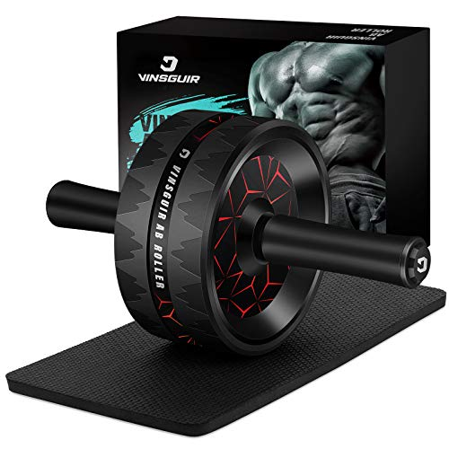 Ab Roller Wheel, Abs Workout Equipment for Abdominal & Core Strength Training, Exercise Wheels for Home Gym Fitness, Ab…