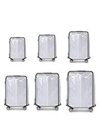 TR.OD Suitcase Cover Protectors Luggage Trolley Case Protector Clear PVC Waterproof Dust Proof Fit for 28""