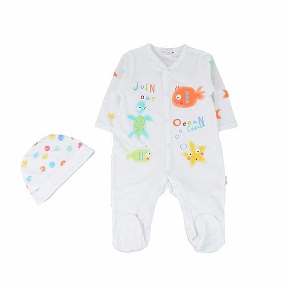 Babaluno - Pelele para dormir - para bebé niño blanco blanco 3-6 Meses: Amazon.es: Ropa y accesorios