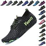 Voovix Womens Mens Water Shoes Quick-Dry Barefoot Aqua Socks Unisex for Beach Swim(bk38