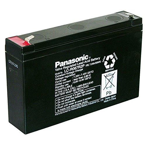 Bleiakku AGM Panasonic Industrial LC-R067R2P für USV Anlagen, Notbeleuchtung, Alarmanlagen - VDS-zugelassen - PB 6V 7200mAh - Akku-King