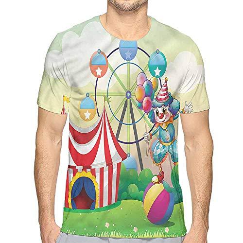 Comfort Colors t Shirt Circus,Clown Inflatable Ball t Shirt L -