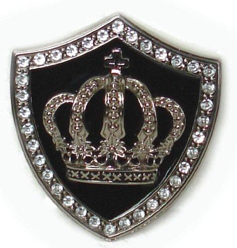 BeltsandStuds Goth Punk Crystal Crown Metal Buckle Silver (Crown Belt Buckle)