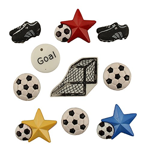 (Buttons Galore Craft & Sewing Buttons - Soccer - 3 Packs (30)