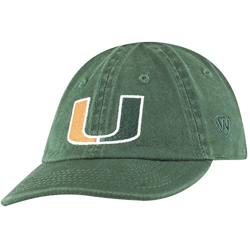 Top of the World Miami Hurricanes Infant Hat Icon, Green, Adjustable