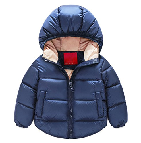 Taiycyxgan Baby Boys Girls Winter Puffer Coat Kids Thicken Down Jacket Outwear Navy 80