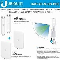 Ubiquiti UAP-AC-M-US UniFi AP AC Mesh Dual-Band Access Point (2 Pack) + UMA-D UniFi Dual-Band Direct (2 Pack)