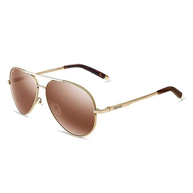 Gafas de sol polarizadas de los hombres gafas de sol espejo conductor nuevo gafas de rana