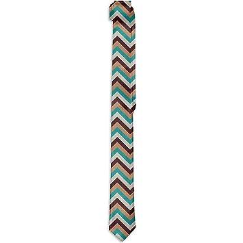 Corbata floral estampada para hombre, diseño de línea de zigzag ...