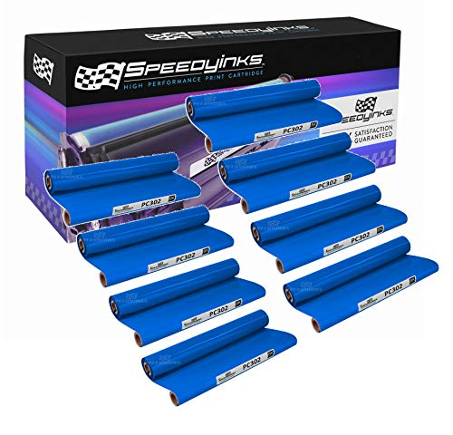 Speedy Inks Compatible Ribbon Refill Rolls for Brother PC302 (8 Rolls)