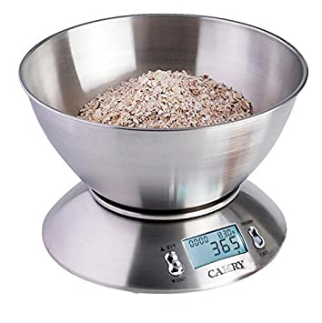 Camry High Accuracy Digital Kitchen Food Scale Mixing Bowl 2.15l Liquid  Volume Room Temperature And