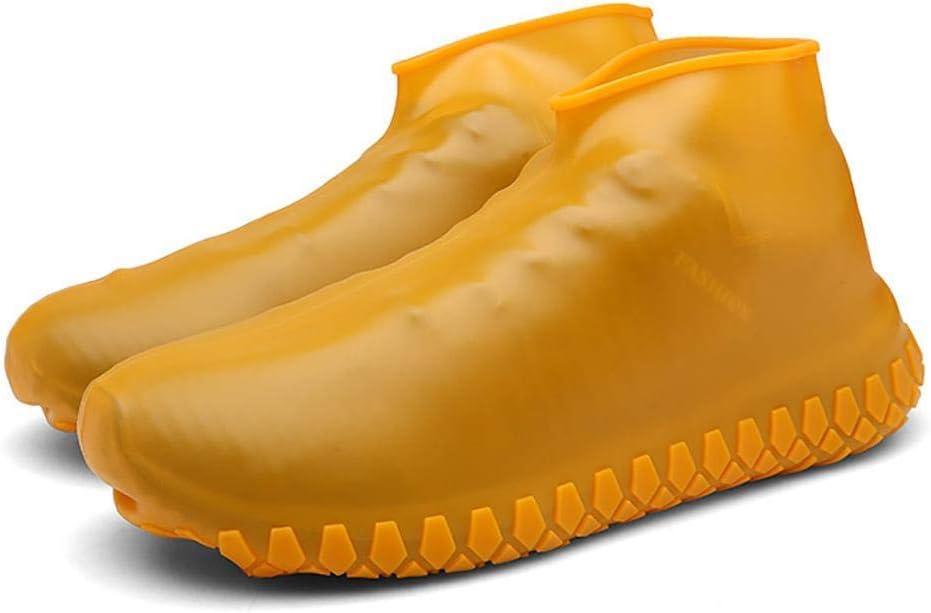 S OFNMY 1 paio di copriscarpe in silicone impermeabili Copriscarpe antiscivolo in silicone riutilizzabili e lavabili Stivali da pioggia per esterni
