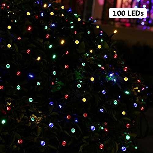 Amazon Lightning Deal 90% claimed: B-right 58ft 200 LEDs RGB Solar Fairy String Lights 8 Modes for Landscape, Garden, Home, Wedding Party, Christmas Tree