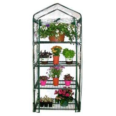 Gardman R687 4-Tier Mini Greenhouse, 27  Long x 18  Wide x 63  High