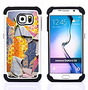 GIFT CHOICE / Defensor Cubierta de protección completa Flexible TPU Silicona + Duro PC Estuche protector Cáscara Funda Caso / Combo Case for Samsung Galaxy S6 SM-G920 // Ripped Patterns Deep Fashion //