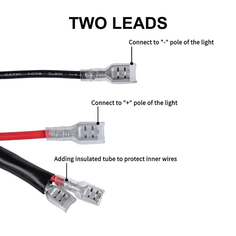 Faisceau de c/âblage pour feux de brouillard de voiture 12 V//40 A Interrupteur marche//arr/êt LED Interrupteur pour feux de travail hors route