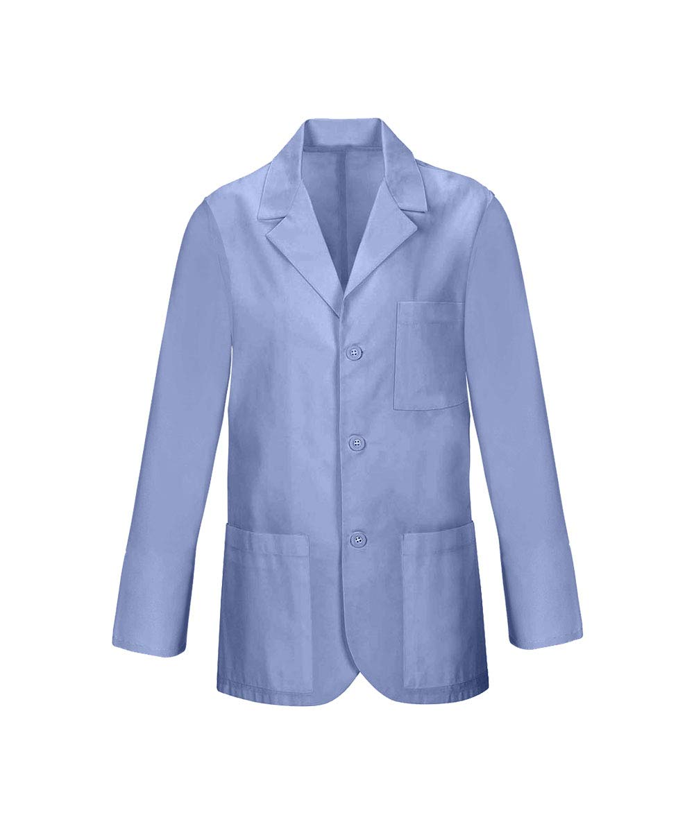 Panda Uniform Custom Consultant Lab Coat For Men's 32-Inch length-Sky Blue-XL