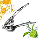 Top Rated Kuger Premium Quality Stainless Steel Lemon Lime Squeezer Manual Citrus Press Juicer (Big)