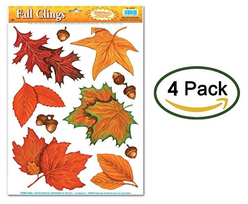 Fall Leaf Window Clings (4 Sheets with 10 Stickers Each - Total of 40 Stickers) for $<!--$9.99-->