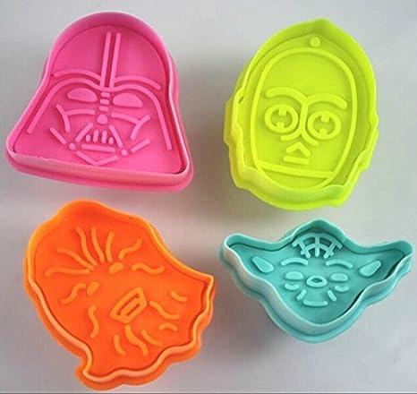 4 pzs cortadores de galleta Star Wars para Tartas, Decoración, Fondant, Moldes, Hornear by ARTUROLUDWIG: Amazon.es: Hogar