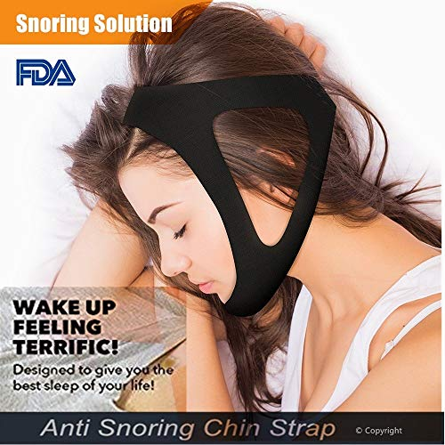The Best Stop Snoring Solution|Anti Snoring Chin Strap Jaw Supporter|Snore Stop Remedies AIDS|Snoring Relief Devices|Adjustable one Size fits All for Men Women Snorerx by DERMIBEST