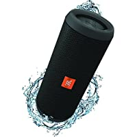 JBL Flip 3 Altoparlante Bluetooth Portatile, Ricaribile, Microfono per Chiamate in Vivavoce, Compatibile con Smartphone, Tablet e Dispositivi MP3, JBL Connect, Nero