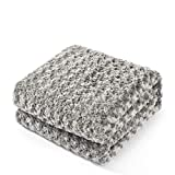 King Linens Super Soft Microfiber Blanket Stereo Rose Pattern Fluffy Cozy Home Furnishing (Twin, Grey)
